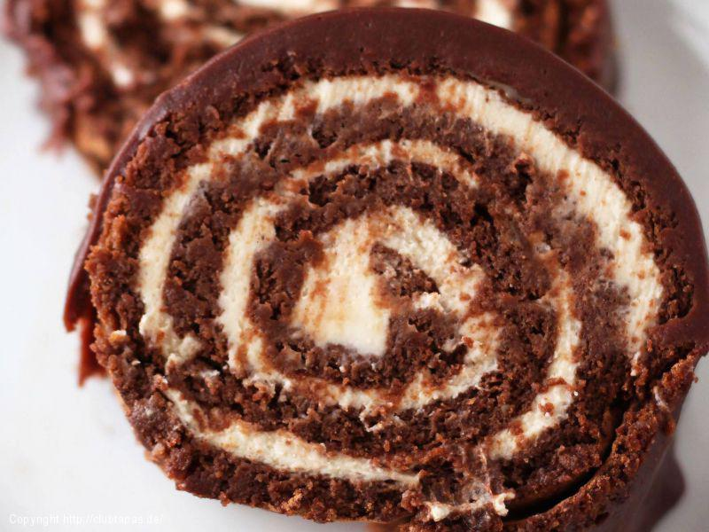 Bananen-Schokoladen-Rolle