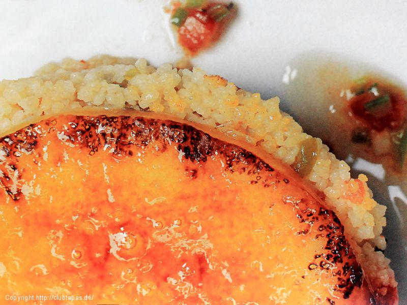 Couscous mit karamellisiertem Garrotxa